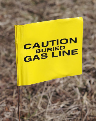 Gas Warning Flag